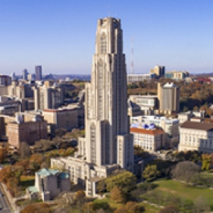 The Cathedral of Learning from an aerial perspective