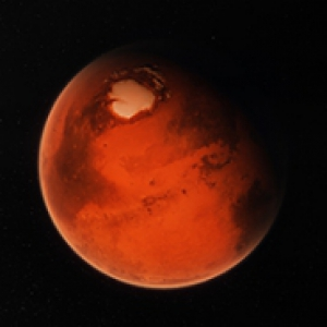 A photograph of Mars