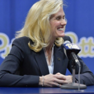 Heather Lyke was introduced as Pitt's new athletic director at a press conference in the Petersen Events Center.