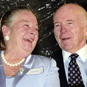 Elsie and Henry Hillman at the opening of the cancer center