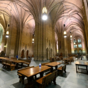 The empty Cathedral of Learning Commons