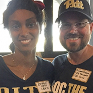 Pitt alumni Erikah Abdu and Richard Dodge