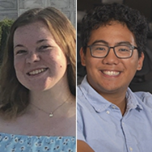 headshots of Molly Brandenburg and Joseph Valdacanas