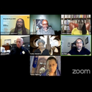 A Zoom meeting with seven participants