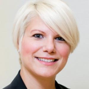Carla Panzella in a black suit