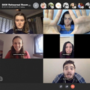Seven participants in a Zoom call