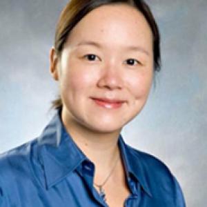 Sherry Chou in a blue shirt