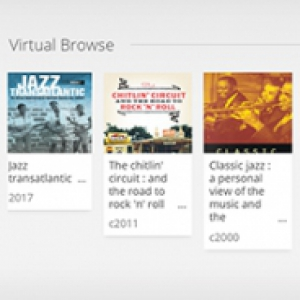 Options in a virtual browser of books
