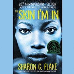 "Book cover for ""The Skin I'm In,"" by Sharon Flake."